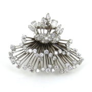 Vintage David Webb Diamond Platinum Brooch RR41-4