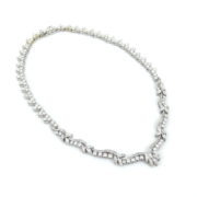 Vintage 16.75ct Round Baguette & Marquise Cut Diamond Platinum Necklace RR41-7