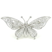 Rare Tiffany & Co Arch Butterfly 11.0ct Diamond & Platinum Brooch ZC15-1