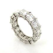 Fine 10.50ct Asscher Cut Diamond & Platinum Eternity Band BR21-1