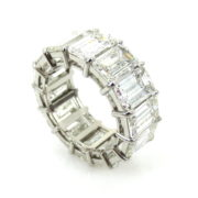 Fine 16.50ct GIA Certified Emerald Cut Diamond & Platinum Eternity Band BR21-3