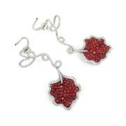 Rare Ambrosi 8.0ct Vivid Orange Sapphire & 4.50ct Diamond 18K Gold Flower Drop Earrings ES27-2