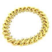 Vintage Italian 2.0ct Diamond & 18K Yellow Gold Open Heart Necklace SM11-2