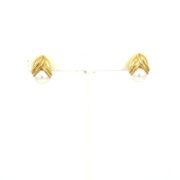 Vintage Tiffany & Co. Italy 8mm Pearl & 18K Yellow Gold Flower Earrings DB6-3