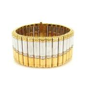 Vintage Michael Bondanza 2.36ct Diamond Platinum & 18K Gold Bracelet RM36-4