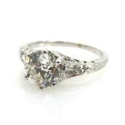 Antique 1.25ct European Cut Diamond & Platinum Engagement Ring ED30-5