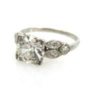 Fine Antique 1.51ct European Cut Diamond GH/VS & Platinum Engagement Ring ED30-6