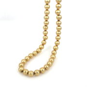 Vintage hand Carved 14K Yellow Gold Bead Necklace JW62-8