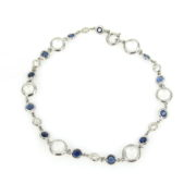 Estate Moonstone 1.20ct Sapphire & 0.60ct Diamond 18K White Gold Bracelet  DB5-8