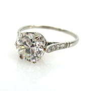 Antique 2.0ct Old European Cut Diamond & Platinum Engagement Ring ED30-4