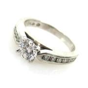 Estate 0.81ct Ideal Cut Diamond & Platinum Engagement Ring ED29-7