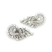 Vintage 11.0ct Diamond & Platinum Dangling Drop Earrings SM20-5