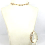 Vintage Cartier 23.50ct Diamond & 18K Yellow Gold Necklace & Bracelet Set WN35-8