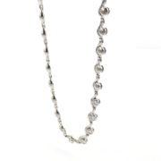 Gerard 1.20ct DE/VS Round Diamond 18K White Gold Circles & Waves Necklace GT6-1