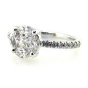 Fine 1.01ct Mixed Shape Diamond & 14K White Gold Ring DZ1-3