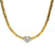 Gerard 0.30ct DE/VS Diamond Pave Heart 18K Gold Necklace GT6-5