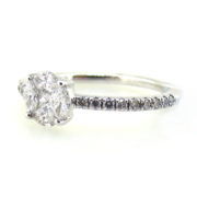 Fine 0.65ct Mixed Shape Diamond & 14K White Gold Ring DZ1-4