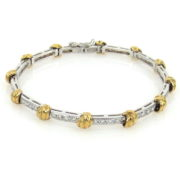 Gerard 1.35ct DE/VS Diamond 18K White & Yellow Gold Bracelet GT9-4