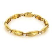 Gerard 1.0ct DE/VS Diamond & 18k Wavy Link Bracelet GT9-7