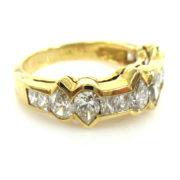 Rare Gerard 2.65ct Princess & Pear Shape Diamond 18K Gold Ring GT11-7