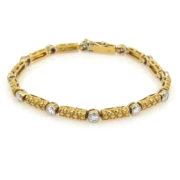 Gerard 1.80ct Fine Diamond 18K White & Yellow Gold Bracelet GT9-8