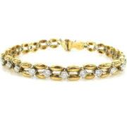 Rare Gerard 3.05ct FG/VS Diamond & 18K White & Yellow Gold Bracelet GT11-9