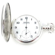 Rare New Waltham Select Chronometer COSC Sterling Silver Pocket Watch WN38-13