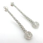 Rare Gerard 1.20ct EF/VS Perfect Cut Diamond 18K Gold Drop Earrings GT11-15
