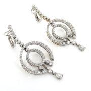 Rare Gerard 2.90ct Diamond & 18K Gold Dangling Drop Earrings GT11-17