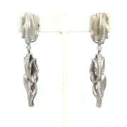 Rare 2004 Kieselstein Cord 1.50ct Diamond & 18K White Gold Dangling Drop Earrings OA27-001