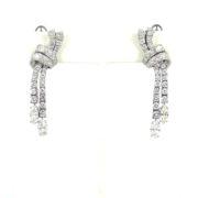Vintage 7.50ct Diamond & Platinum Dangling Drop Earrings OA27-002