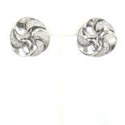 Estate Marina B Vertigo 3.0ct DE/VS Diamond & 18K White Gold Clip Earrings OA27-003