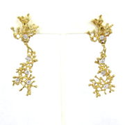 Unique Vintage 1.0ct Diamond & 18K Yellow Gold Hand Made Earrings A&N 231-007