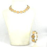 Rare 16.50ct Diamond & 14K Gold Estados Unidos Mexicanos 22K Gold Necklace & Bracelet Set A&N231-016