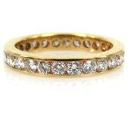 Estate 1.75ct Diamond & 18K Yellow Gold 3.28mm Eternity Wedding Band PB1-005