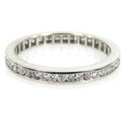 Beautiful 0.75ct Diamond & 18K White Gold Channel Set Eternity Wedding Band PB1-006