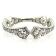 Unique 1.60ct Diamond & 18K White Gold Special Curved Eternity Band PB1-007