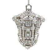 Antique 6.50ct Old Diamond Platinum & Gold Lady's Watch Pendant Pin SM25-001
