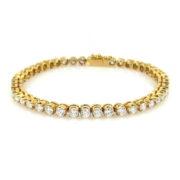 Fine Italian 5.42ct FG/VS Diamond & 18K Yellow Gold Tennis Bracelet WN41-004