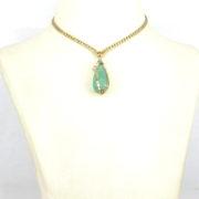 Vintage Nova 57.0ct Emerald 7.50ct White & 7.0ct Yellow Diamond 18K Yellow Gold Necklace SM24-006