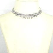 Estate 15.0ct Perfect Cut Diamond & 18K White Gold Decorated Bib Necklace SM24-008