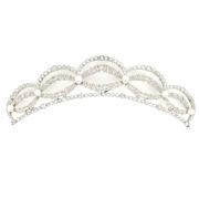 Vintage 6.50ct Rose Cut Diamond & Pearl Filigree Decorated Platinum Tiara Rami28-007