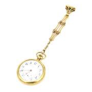 Antique 1904 Vacheron & Constantine 18K Yellow Gold Pocket Watch & Fob Chain A&N 236-007